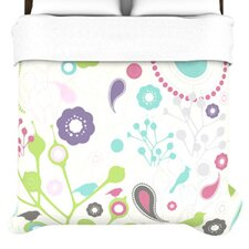 """Bird Song"" Woven Comforter Duvet Cover"