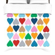 Diamonad Hearts Duvet Cover