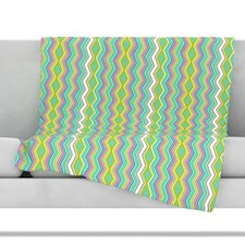 Chevron Love Fleece Throw Blanket
