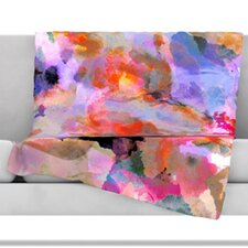 Painterly Blush Fleece Throw Blanket
