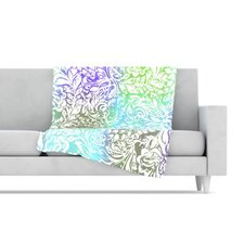 <strong>KESS InHouse</strong> Blue Bloom Softly for You Fleece Throw Blanket