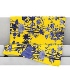Bloom Flower Microfiber Fleece Throw Blanket
