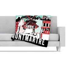 Montmartre Fleece Throw Blanket