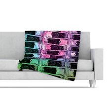 Paint Tubes II Fleece Throw Blanket