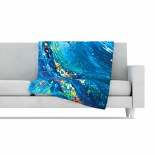 Big Wave Fleece Throw Blanket