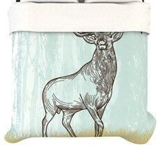 """""""Elk Scene"""" Woven Comforter Duvet Cover"""