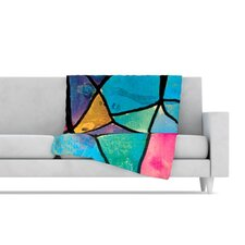 Stain Glass 2 Fleece Throw Blanket