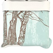 <strong>KESS InHouse</strong> Winter Trees Duvet Cover