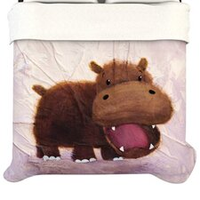 The Happy Hippo Duvet Cover