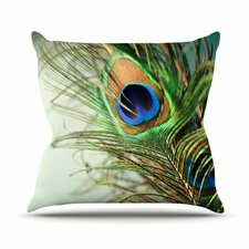 <strong>KESS InHouse</strong> Peacock Feather Throw Pillow