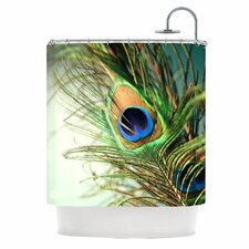 Peacock Feather Polyester Shower Curtain