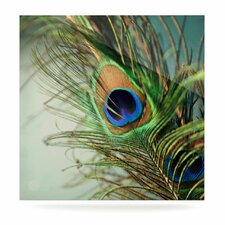 Peacock Feather by Sylvia Cook Photographic Print Plaque