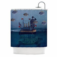 The Voyage Polyester Shower Curtain