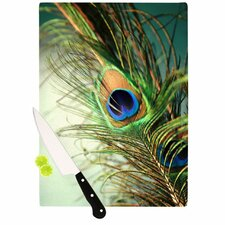 <strong>KESS InHouse</strong> Peacock Feather Cutting Board