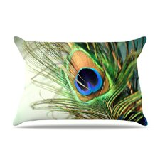 Peacock Feather Fleece Pillow Case
