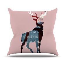Oh Deer by Suzanne Carter Throw Pillow