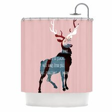 Oh Deer Polyester Shower Curtain
