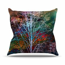Trees in the Night Throw Pillow