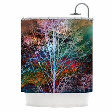 Trees in the Night Polyester Shower Curtain