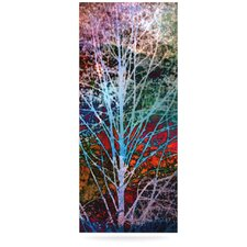 Trees in the Night by Sylvia Cook Graphic Art Plaque