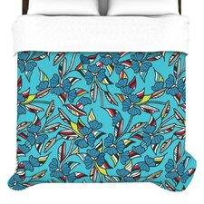"""Paper Leaf"" Woven Comforter Duvet Cover"