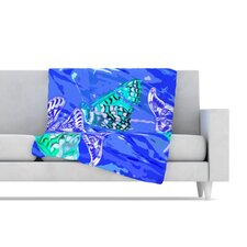Butterflies Party Fleece Throw Blanket