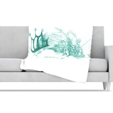 <strong>KESS InHouse</strong> Queen of The Sea Fleece Throw Blanket