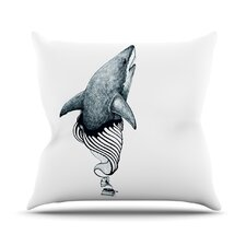 Shark Record Throw Pillow