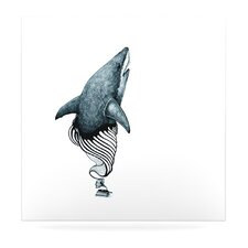 Shark Record by Graham Curran Graphic Art Plaque