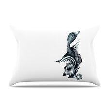 Swan Horns Microfiber Fleece Pillow Case