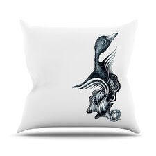 Swan Horns Throw Pillow
