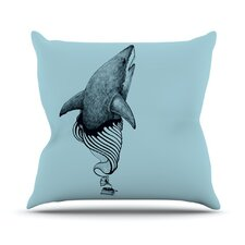 <strong>KESS InHouse</strong> Shark Record II Throw Pillow