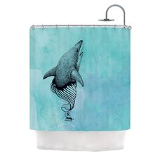 Shark Record III Polyester Shower Curtain