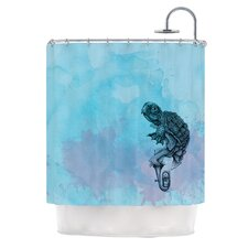 Turtle Tuba II Polyester Shower Curtain