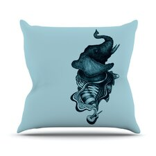 Elephant Guitar II by Graham Curran Throw Pillow