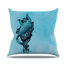 Owl III by Graham Curran Throw Pillow