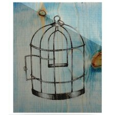 Bird Cage Floating Art Panel