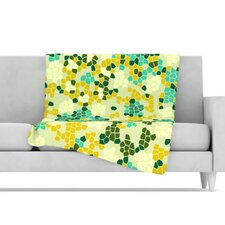 Flower Garden Mosaic Fleece Throw Blanket
