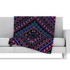 Neon Pattern Fleece Throw Blanket