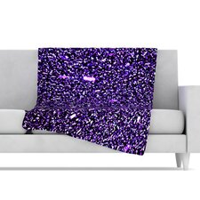 <strong>KESS InHouse</strong> Purple Dots Fleece Throw Blanket