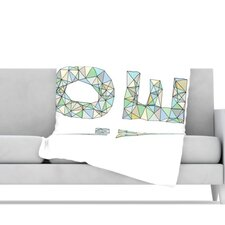 Four Letter Word Fleece Throw Blanket