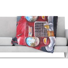 Vintage in Cuba Fleece Throw Blanket