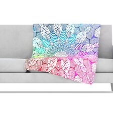 Rainbow Dots Fleece Throw Blanket