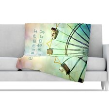 Every Summer Has a Story Fleece Throw Blanket