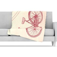 Bicycle Fleece Throw Blanket