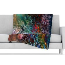 Trees in the Night Fleece Throw Blanket