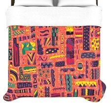 """Squares"" Woven Comforter Duvet Cover"