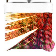 """Feather Pop"" Woven Comforter Duvet Cover"