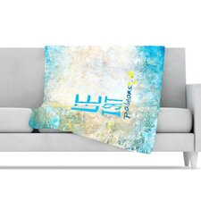 Life Is Art Microfiber Fleece Throw Blanket