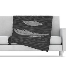 <strong>KESS InHouse</strong> Feathers Microfiber Fleece Throw Blanket